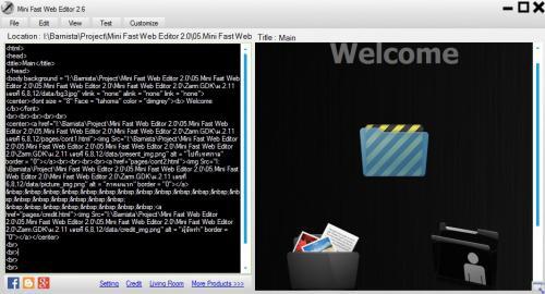 โปรแกรมทำเว็บ Mini Fast Web Editor