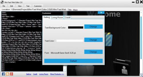 โปรแกรมเขียนเว็บ Mini Fast Web Editor