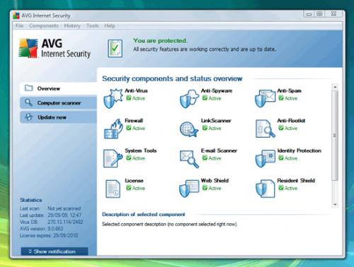 โปรแกรม AVG Internet Security