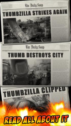 App เกมส์ก๊อตซิลล่า ThumbZilla
