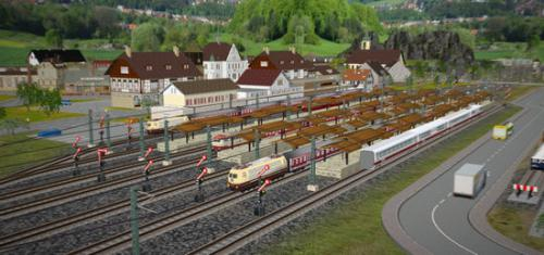 เกมส์สร้างทางรถไฟ 3D Train Studio