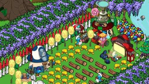 โหลดเกมส์ Smurfs Village