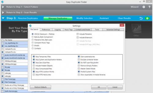 โปรแกรมลบไฟล์ซ้ำ Easy Duplicate Finder