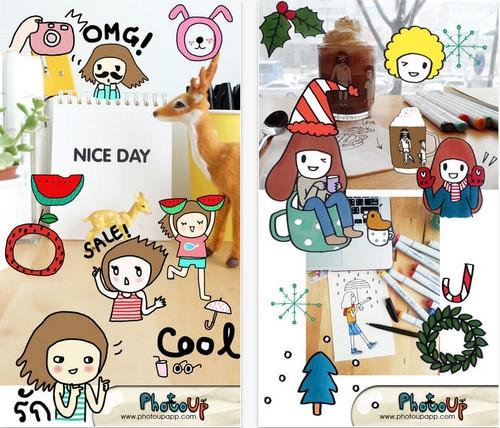 App แต่งรูปสติ๊กเกอร์ NgiNgi Stamp by PhotoUp