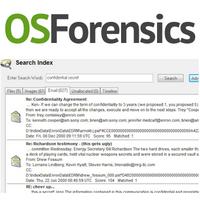 OSForensics (โปรแกรม OSForensics ช่วยหาหลักฐานดิจิตอล คอมพิวเตอร์ ในทางกฎหมาย)