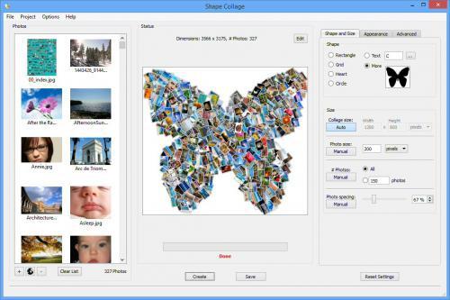 โปรแกรมแต่งรูป Shape Collage
