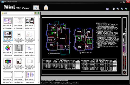 โปรแกรมเปิดไฟล์ Mini CAD Viewer