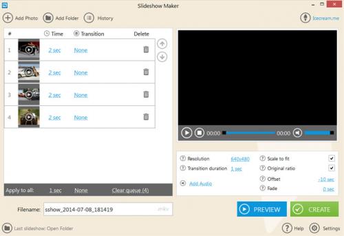 ดาวน์โหลดโปรแกรม IceCream Slideshow Maker