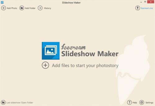 โปรแกรมสร้างสไลด์โชว์ IceCream Slideshow Maker