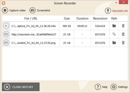 โปรแกรมอัดวีดีโอหน้าจอ Icecream Screen Recorder