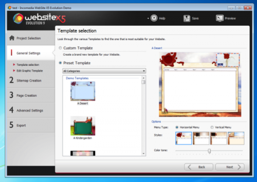 โปรแกรมสร้างเว็บไซต์ WebSite X5 Evolution