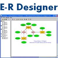 ER Designer (โปรแกรมวาด ER Diagram งานฐานข้อมูล) :