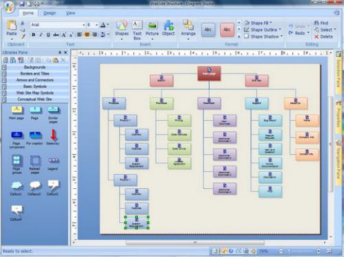 โปรแกรมสร้างแผนภูมิ Diagram Studio