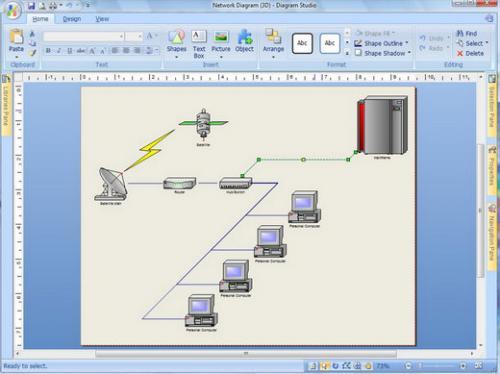 โปรแกรมวาดไดอะแกรม Diagram Studio