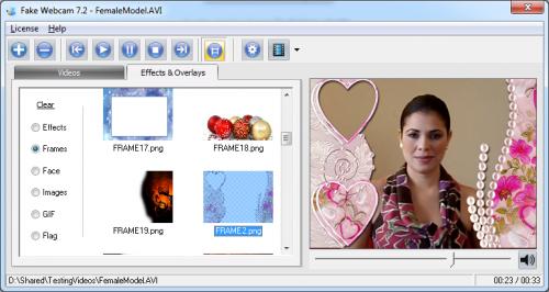 โปรแกรม Fake Webcam