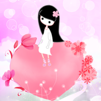 A Heart To Ponder LWP Locker (App พื้นหลังสาวน้อยหัวใจสีชมพู)