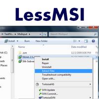lessmsi (โปรแกรม lessmsi ดูข้อมูล แตกไฟล์ MSI ฟรี)