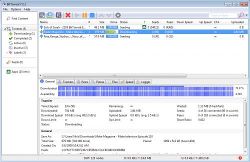 โปรแกรมโหลดบิท BitTorrent