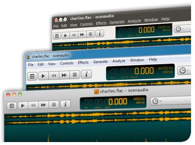 โปรแกรมตัดต่อเสียง OcenAudio