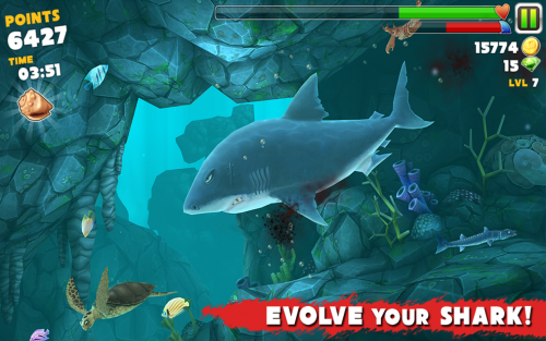 Hungry Shark Evolution (App เกมส์ฉลามจอมเขมือบ) :