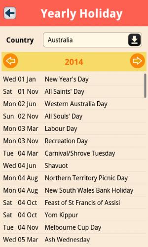 ดาวน์โหลดแอพ World Holidays
