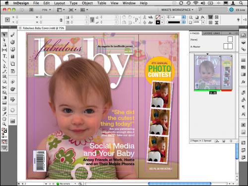 โปรแกรมออกแบบนิตยสาร Adobe InDesign