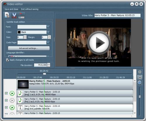โปรแกรมแปลงไฟล์ VSO DVD Converter