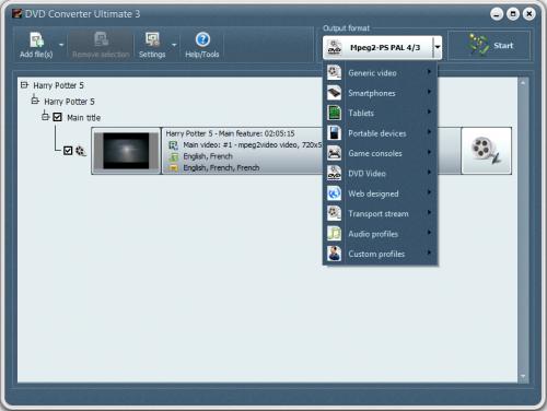 VSO DVD Converter (โปรแกรมแปลง DVD ลง iPhone iPad ฯลฯ) :