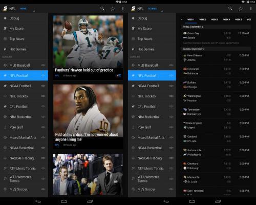 App เช็คผลกีฬา theScore
