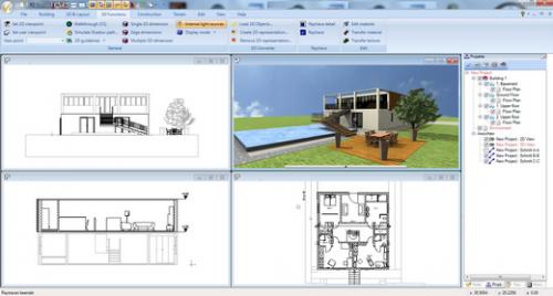 Ashampoo 3D CAD Architecture (โปรแกรมออกแบบสิ่งก่อสร้าง อาคาร สนาม 3 มิติ) :