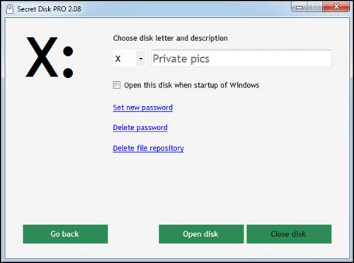 โปรแกรมล็อคโฟลเดอร์ Secret Disk