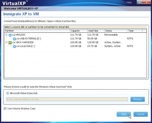 โปรแกรมจำลองวินโดวส์ VirtualXP