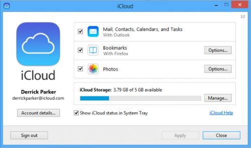 โปรแกรมสำรองข้อมูล iCloud