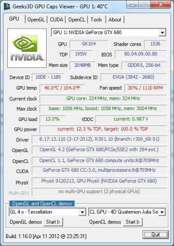โปรแกรมดูการ์ดจอ GPU Caps Viewer