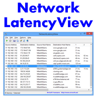 NetworkLatencyView (จับเวลาแฝง Latency เก็บสถิติ การเชื่อมต่อ Server แต่ละครั้ง)