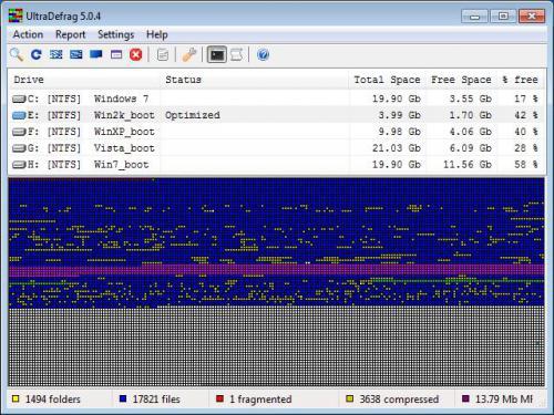 ดาวน์โหลดโปรแกรม UltraDefrag