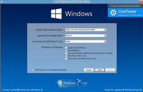 Windows 10 Transformation Pack (เปลี่ยน Windows ให้เหมือน Windows 10) :