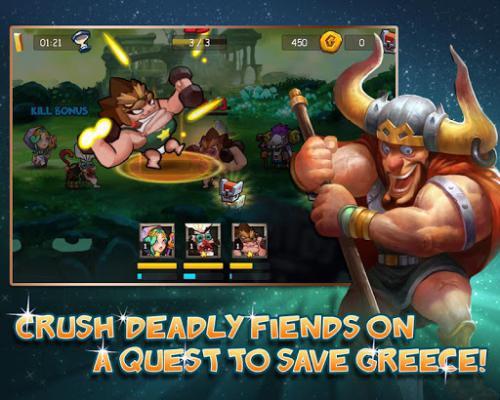 Gods Rush (App เกมส์ต่อสู้สงครามแห่งเทพเจ้ากรีก) :