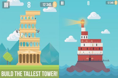 App เกมส์สร้างตึก The Tower