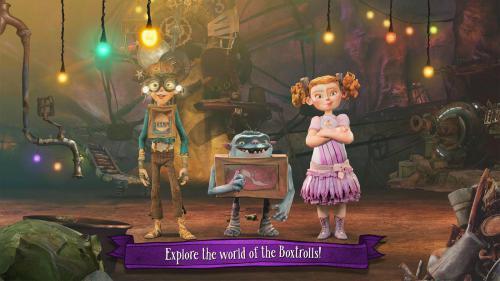 App เกมส์วิ่งหุ่นกระป๋อง The Boxtrolls