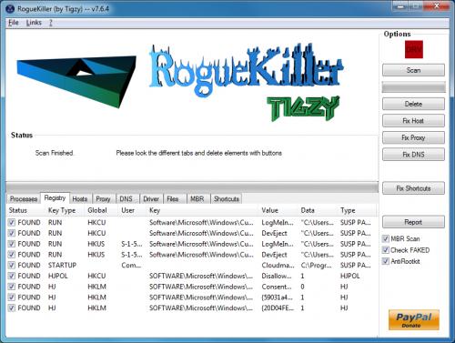 โปรแกรม ลบ แก้ปัญหามัลแวร์ คอมค้าง RogueKiller