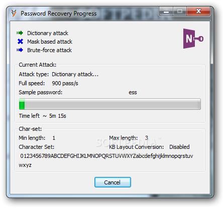 โปรแกรมกู้รหัสผ่าน OneNote Password