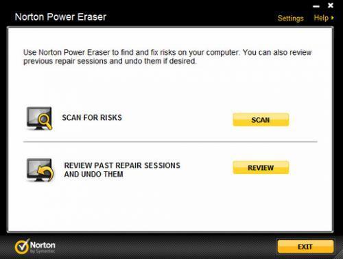 โปรแกรมกำจัดมัลแวร์ Norton Power Eraser
