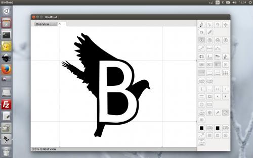 โปรแกรมออกแบบฟอนต์ BirdFont