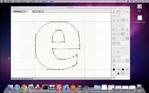 โปรแกรมออกแบบฟอนต์ mac
