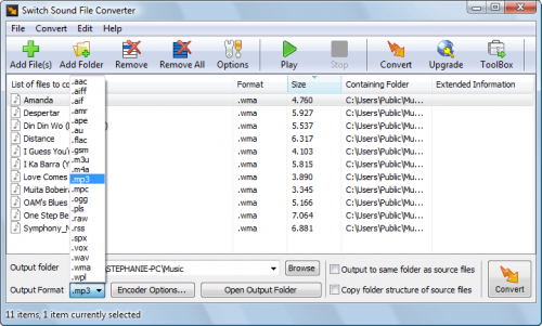 Switch Audio File Converter :