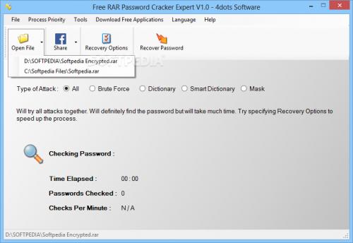 โปรแกรม Free RAR Password Cracker Expert