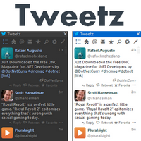 Tweetz Desktop (โปรแกรม Tweetz บนหน้าจอเดสท็อป ฟรี)