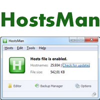 HostsMan (โปรแกรม HostsMan บล็อคเว็บไซต์ จัดการไฟล์ Host ฟรี)