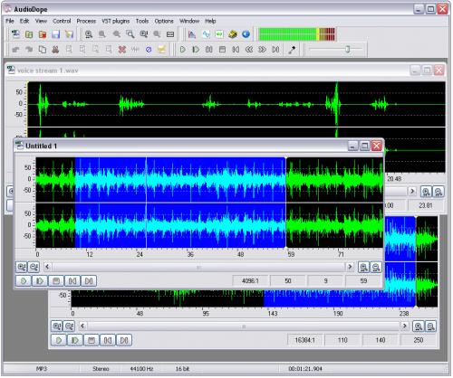 โปรแกรมแต่งเพลง อัดเสียง audiodope